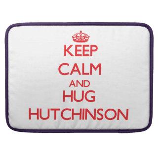 Mantenga tranquilo y abrazo Hutchinson Fundas Para Macbook Pro