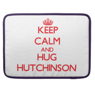 Mantenga tranquilo y abrazo Hutchinson Funda Para Macbook Pro