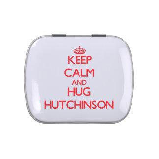 Mantenga tranquilo y abrazo Hutchinson Jarrones De Dulces