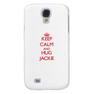 Mantenga tranquilo y ABRAZO Jackie Funda Para Galaxy S4