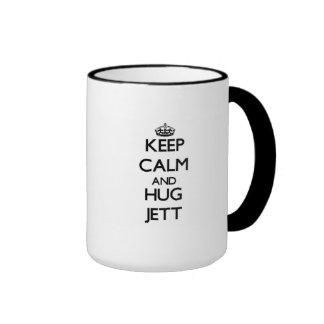 Mantenga tranquilo y abrazo Jett Taza De Café