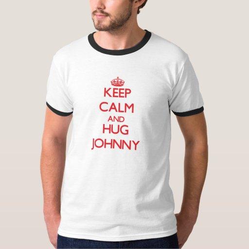 Mantenga tranquilo y ABRAZO Johnny Playeras