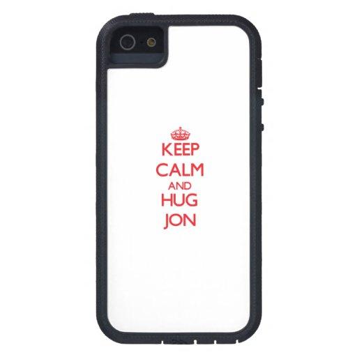 Mantenga tranquilo y ABRAZO Jon iPhone 5 Case-Mate Funda