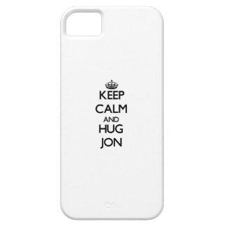 Mantenga tranquilo y abrazo Jon iPhone 5 Cárcasa