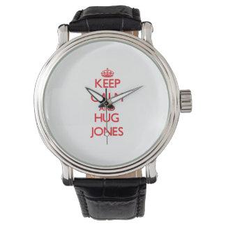 Mantenga tranquilo y abrazo Jones Relojes