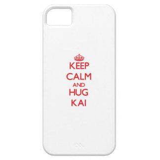 Mantenga tranquilo y ABRAZO Kai iPhone 5 Fundas