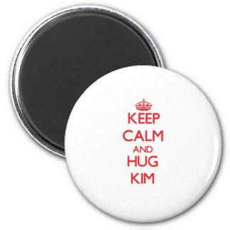 Mantenga tranquilo y abrazo Kim Imán De Frigorífico