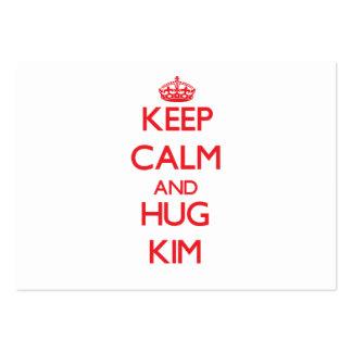 Mantenga tranquilo y abrazo Kim Plantilla De Tarjeta De Visita