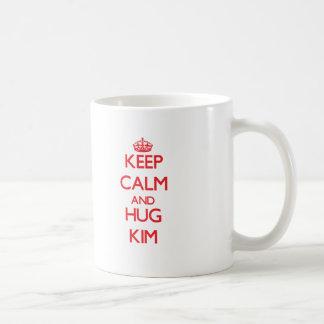 Mantenga tranquilo y abrazo Kim Taza De Café