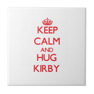 Mantenga tranquilo y abrazo Kirby Azulejo Cuadrado Pequeño