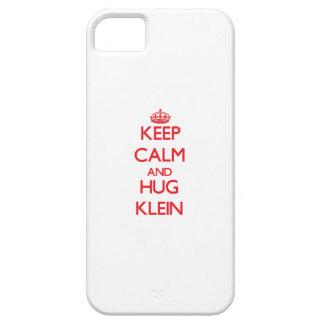 Mantenga tranquilo y abrazo Klein iPhone 5 Cárcasa