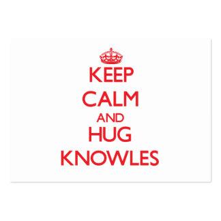 Mantenga tranquilo y abrazo Knowles Plantillas De Tarjetas De Visita