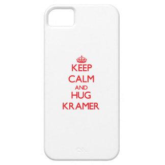 Mantenga tranquilo y abrazo Kramer iPhone 5 Protectores
