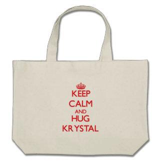 Mantenga tranquilo y abrazo Krystal Bolsa
