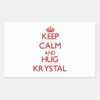 Mantenga tranquilo y abrazo Krystal Rectangular Altavoces