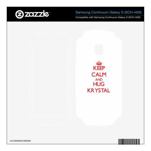 Mantenga tranquilo y abrazo Krystal Samsung Continuum Skins
