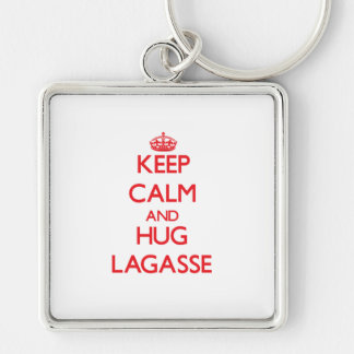 Mantenga tranquilo y abrazo Lagasse Llaveros Personalizados