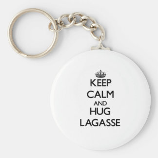 Mantenga tranquilo y abrazo Lagasse Llavero