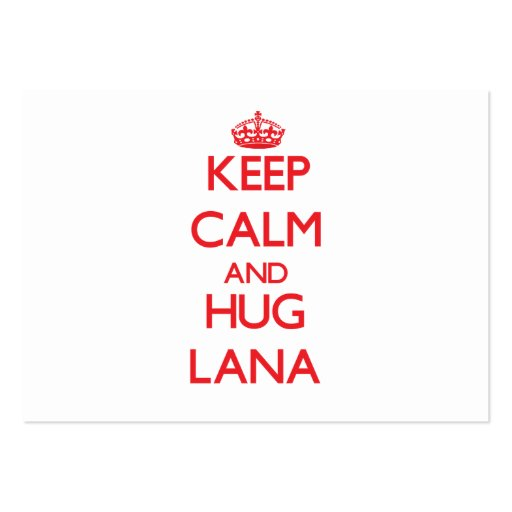 Mantenga tranquilo y abrazo Lana Plantilla De Tarjeta Personal