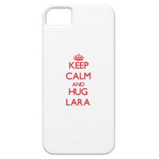 Mantenga tranquilo y abrazo Lara iPhone 5 Carcasas