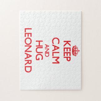 Mantenga tranquilo y abrazo Leonard Puzzles