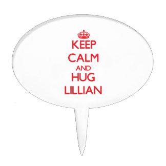 Mantenga tranquilo y abrazo Lillian Figura De Tarta