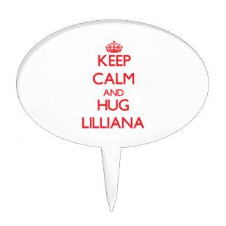 Mantenga tranquilo y abrazo Lilliana Figura De Tarta