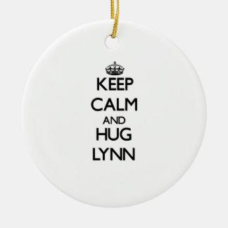 Mantenga tranquilo y abrazo Lynn Adorno