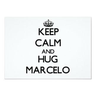 Mantenga tranquilo y abrazo Marcelo Invitacion Personalizada