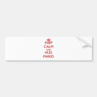 Mantenga tranquilo y ABRAZO Mario Pegatina Para Auto