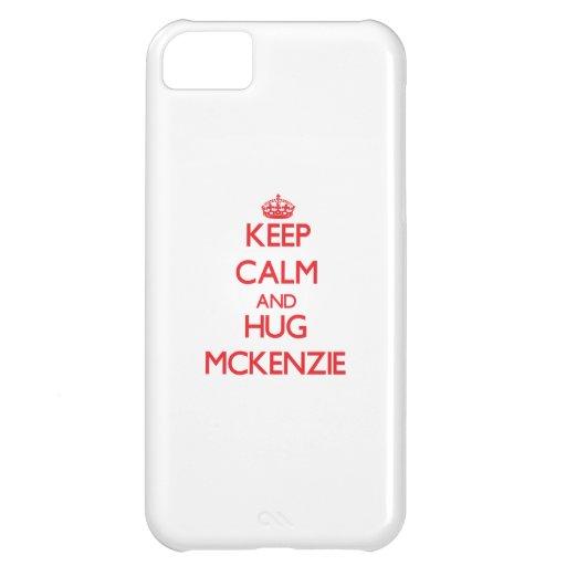 Mantenga tranquilo y abrazo Mckenzie Funda Para iPhone 5C