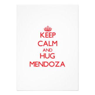 Mantenga tranquilo y abrazo Mendoza Comunicados