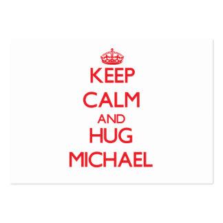 Mantenga tranquilo y abrazo Michael Tarjeta De Visita