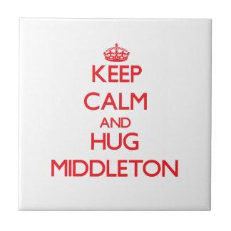 Mantenga tranquilo y abrazo Middleton Tejas