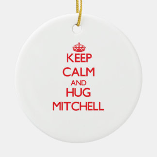 Mantenga tranquilo y ABRAZO Mitchell Adorno