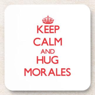 Mantenga tranquilo y abrazo Morales Posavasos De Bebidas