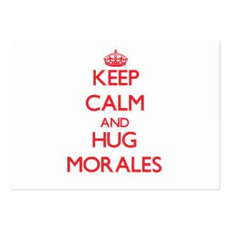 Mantenga tranquilo y abrazo Morales Tarjetas De Negocios