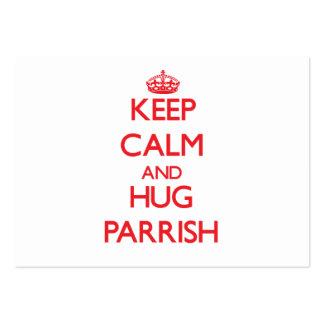 Mantenga tranquilo y abrazo Parrish Plantillas De Tarjetas De Visita
