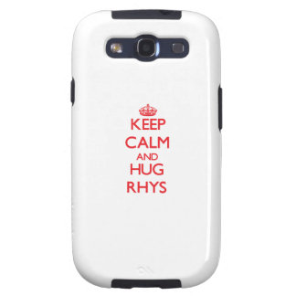 Mantenga tranquilo y ABRAZO Rhys Samsung Galaxy S3 Funda