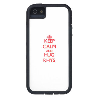 Mantenga tranquilo y ABRAZO Rhys iPhone 5 Case-Mate Funda