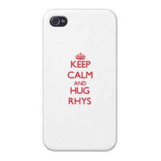 Mantenga tranquilo y ABRAZO Rhys iPhone 4 Coberturas