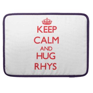 Mantenga tranquilo y ABRAZO Rhys Fundas Para Macbook Pro
