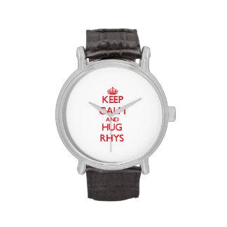 Mantenga tranquilo y ABRAZO Rhys Reloj