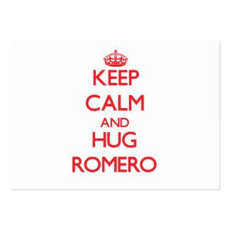 Mantenga tranquilo y abrazo Romero Tarjetas De Visita