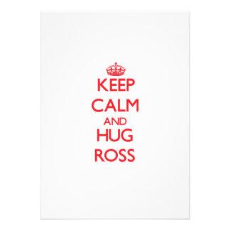 Mantenga tranquilo y abrazo Ross Invitacion Personalizada