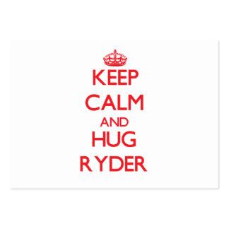 Mantenga tranquilo y abrazo Ryder Plantillas De Tarjetas Personales