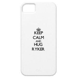 Mantenga tranquilo y abrazo Ryker iPhone 5 Protectores