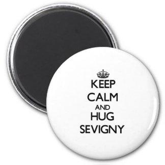 Mantenga tranquilo y abrazo Sevigny Imán De Frigorifico