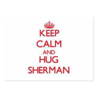 Mantenga tranquilo y ABRAZO Sherman Plantillas De Tarjetas Personales
