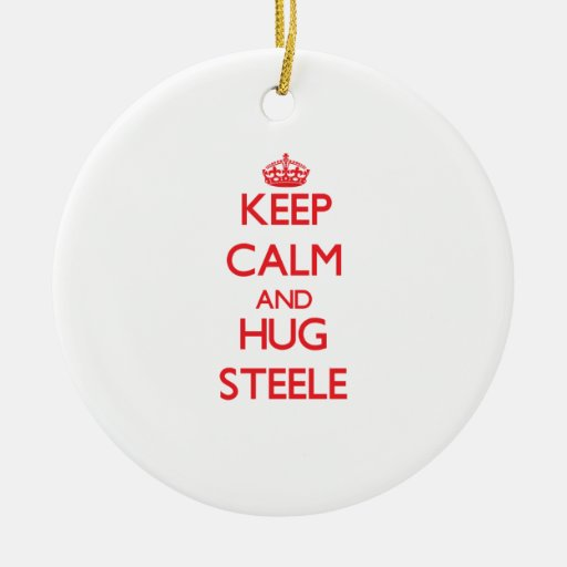 Mantenga tranquilo y abrazo Steele Ornaments Para Arbol De Navidad